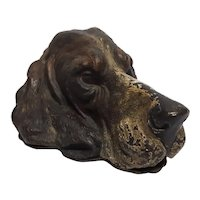 Rare Antique Austrian Cold Painted Bronze Dog Letter Holder Circa 1880's