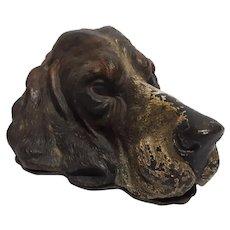 Rare Antique Austrian Cold Painted Bronze Dog Letter Holder Circa 1880's