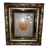 Rare Antique Picture Frame Incised Circa 1880's