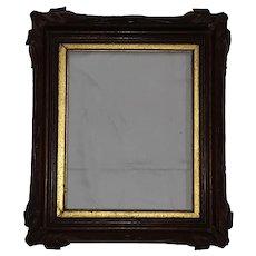 Antique Walnut Picture Frame  Circa 1890's