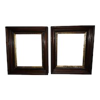 Antique Pair of Walnut Picture Frames Circa 1890's