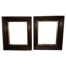 Antique Pair of Walnut Picture Frames Circa 1890's
