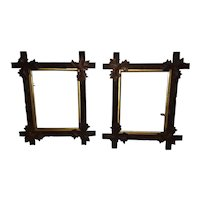 Pair of Antique Walnut Picture Frames Circa 1880's