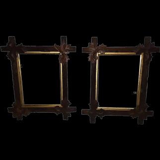 Pair of Antique Walnut Picture Frames Circa 1880's