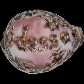 Rare Antique Carved Sea Shell Art Odessa Circa 1899