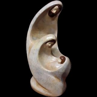 Unique Mid Century Holy Family Nativity Scene Ceramic Statue