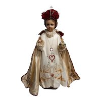Rare Vintage Infant of Prague Statue Circa 1920's
