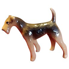 Vintage Ceramic Airedale Welsh Terrier Dog Figurine