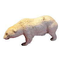Vintage Composition Elastolin Polar Bear Figurine Circa 1930's