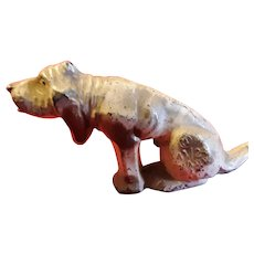 Vintage Metal Hound Dog Figurine Circa 1920's