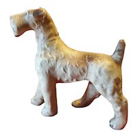 Vintage Terrier Dog Figurine Early Plastic Circa 1920's