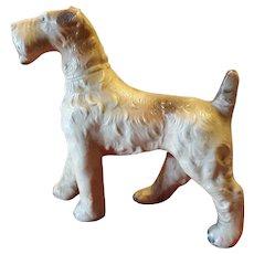 Vintage Terrier Dog Figurine Early Plastic Circa 1920's