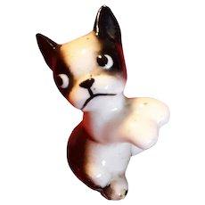 Vintage Boston Terrier Dog Figurine