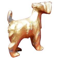 Vintage Gilded Spelter Terrier Dog Figurine Circa 1920's