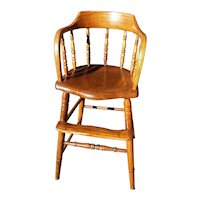 Antique Wooden Youth Chair Circa 1910