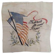 Vintage Patriotic USA Textile Motto Circa 1920's-30's