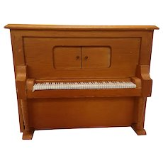 Vintage Miniature Dollhouse Wooden Piano
