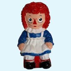 Vintage Raggedy Ann Doll Bank Large Circa 1972