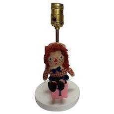Vintage Raggedy Andy Doll Lamp Circa 1970's