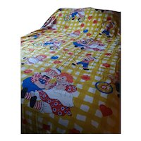 Vintage Raggedy Ann and Andy Bedspread Circa 1970