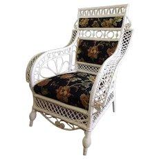 Antique Wicker Chair Circa 1880's Rare Victorian
