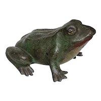 Large Antique Frog Doorstop Circa 1880's