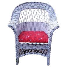 Child's Antique Wicker Chair Circa 1920 Bar Harbor