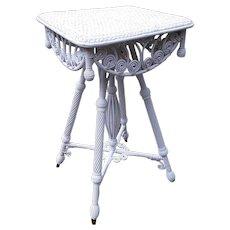 Antique Wicker Table Circa 1890's Rare Victorian