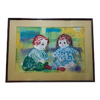 Large Vintage Painting by Helen Willner Circa 1961