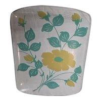 Vintage Glass Tray Mid-century Modern