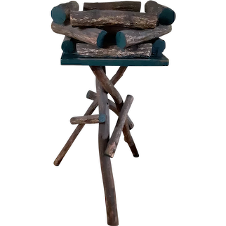Antique Twig Table Adirondack Stand Circa 1910 Rustic