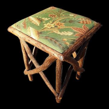Antique Rustic Table Circa 1910 Adirondack Tabouret