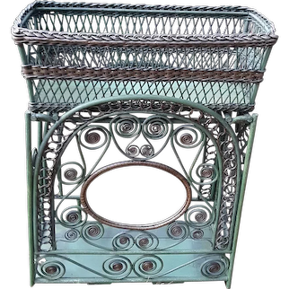 Antique Wicker Fernery Circa 1880's Victorian Fern Stand Rare Flower Stand