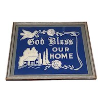 House Blessing Circa 1920's God Bless Our Home