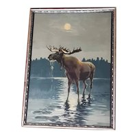 Antique Moose Print Circa 1910