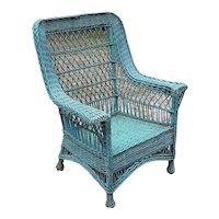 Antique Wicker Arm Chair Circa 1920 Bar Harbor