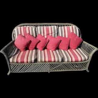 Antique Stick Wicker Sofa Circa 1920