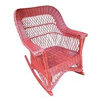 Antique Wicker Rocker Bar Harbor Rocking Chair Circa 1920
