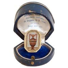 Georgian micromosaic ring of an urn