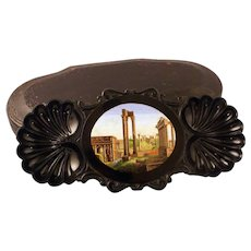 """The Roman Forum"" micromosaic desk tray"
