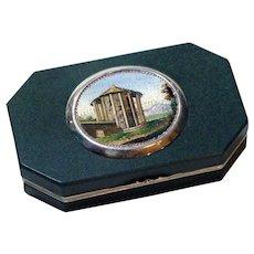 "The ""Temple of Vesta"" micromosaic vinaigrette snuff box"