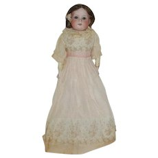 """18"""" Armand Marseille 370  Bisque Shoulder Head Doll With Kid Body       (This doll is being held for CHERY)"""