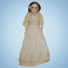 "18"" Armand Marseille 370  Bisque Shoulder Head Doll With Kid Body"