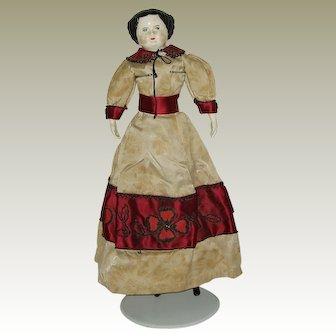 "Vintage  23"" China Head Doll"