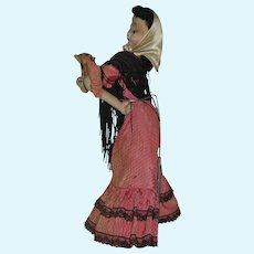 "11"" Klumpe Flirting Lady Doll  1952"
