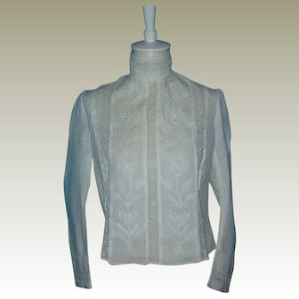Vintage Cotton Blouse  Circa 1890's