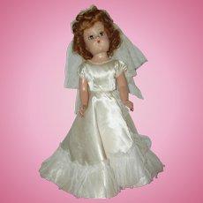 """Vintage 17"""" Composition Bride Doll  Circa 1940"""