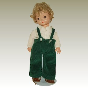 "Vintage 15"" ""Brother"" Doll  Composition And Cloth Circa 1940's"