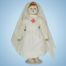 "18"" Antique Nurse Doll"