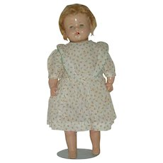 """Vintage 15"""" Composition and Cloth Doll  Circa 1930's"""